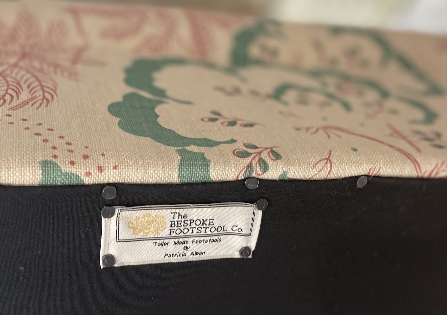 bespoke footstool co signature label
